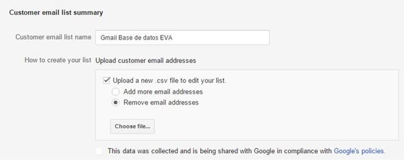 Create email list summary