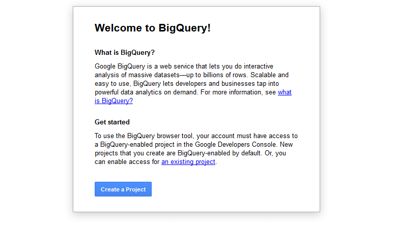 Welcome BigQuery