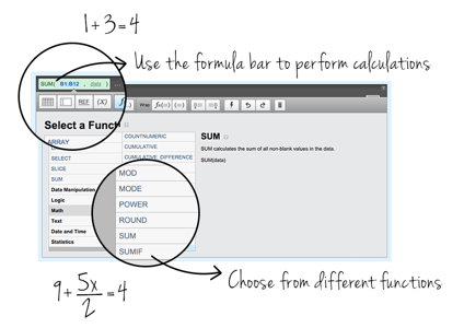 Klipfolio business dashboard sofware math functions