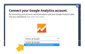 Klipfolio dashboard conexión a Google Analytics
