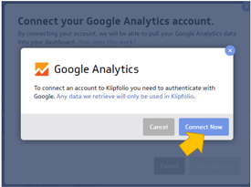 Klipfolio dashboard conexión a Google Analytics 2