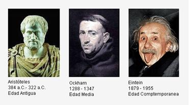 Aristóteles, Ockham y Eintein