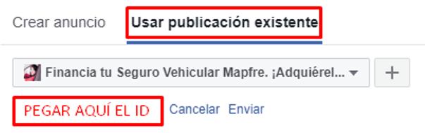 Usar publicación existente