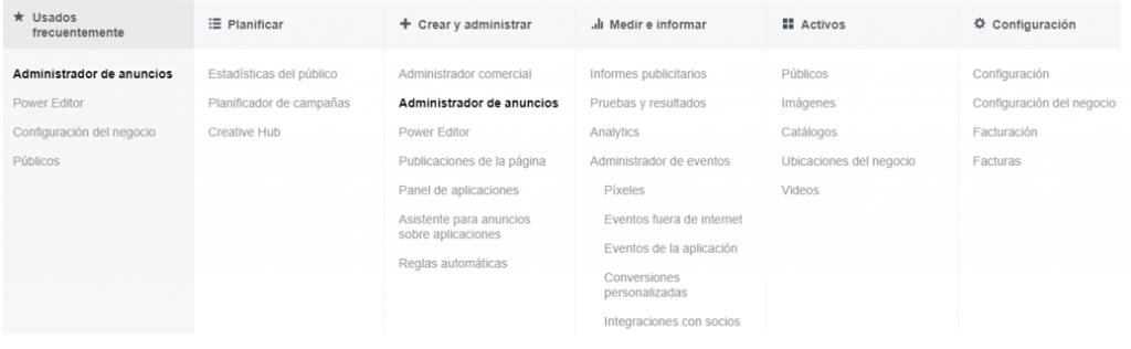Administración de anuncios Facebook