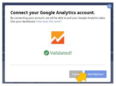 Klipfolio dashboard conexión a Google Analytics 3