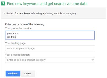 Identificar keywords relacionadas