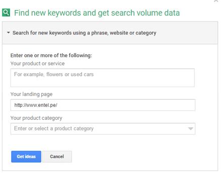 Identificar keywords de tu competencia