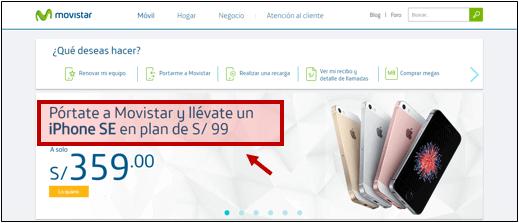 Landing Page Movistar