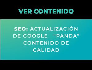 """SEO: Actualización de Google """"Panda"""""""