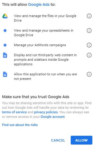 google ads confirmación