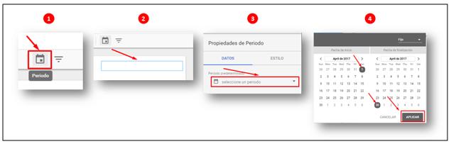 Google Data Studio: Insertar un controlador periodo de tiempo