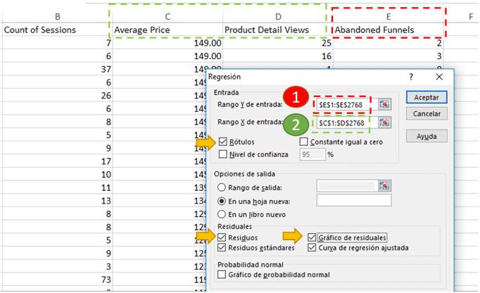 Regresión - Excel